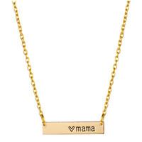 ingrosso gioielli per le nuove mamme-Cuore Mama Tiny Bar Collana Mom Regalo Festa della mamma Regalo di compleanno Famiglia 2017 Nuovo