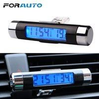 Car Auto Dashboard Air Vent Digital LCD Backlight Mini Thermometer Time Clock