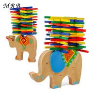 Wholesale wooden balance - Montessori Kids Toys Educational Camel Elephant Balancing Blocks Wooden Toys Beech Wood Balance Game Blocks Gift For Child