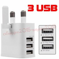 Wholesale chinese pin plug resale online - phone charger USB Port UK Pin Plug Wall Charger Power Adapter For Samsung galaxy s6 s7 edge note for iphone for ipad
