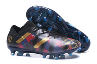 Wholesale tangos shoes online - 2018 Messi soccer cleats Nemeziz Agility FG soccer shoes nemeziz tango Crampons de football boots messi top quality cheap