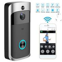 visão remota venda por atacado-Inteligente Sem Fio Wi-fi Segurança DoorBell Visual Gravação Consumo Monitoramento Doméstico Remoto Night Vision Telefone Da Porta de Vídeo Inteligente