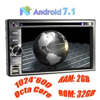 Wholesale Double Din Android Dvd Player - Android 7.1 Car Stereo Double Din 6.2'' Capacitive Touch Screen Car DVD Player In Dash GPS Navigation 2GB+32GB Bluetooth Steering Wheel
