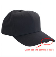 Wholesale Hd Hat Camera - HD 1080P P2P IP Camera Wearable Mini WIFI Spy Hat Cam Cap Camcorder Portable DV Support IOS Android Video Recorder