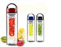 ingrosso bottiglia di frutta bpa free eu-Bottiglie di acqua potabile di sport del infusore della tazza del succo di frutta 700ml BPA liberano la bottiglia della bicicletta del limone di salute all'ingrosso