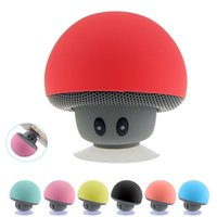 Wholesale tablet pad for pc - Portable Bluetooth Speaker Wireless Handsfree Mushroom Speaker With Sucking Disc Bracket for iphone samsung MP3 pad tablet pc with retail