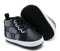 bebek prewalker tuval ayakkabıları toptan satış-2019 İlkbahar Sonbahar Bebek Ayakkabı Yenidoğan Erkek Tuval Dantel-up İlk Walker Ayakkabı Bebek Prewalker Ayakkabı 0-18Mos