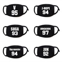 Wholesale boys black face mask resale online - Kpop Bts Face Mouth Mask Bangtan Boys Cute Numbers Fans Gift Letters Pattern Party Maskes Birthday Decor yx gg