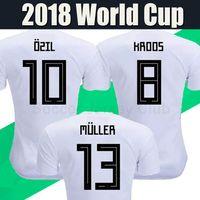 Wholesale Camisetas Futbol Thai Quality - 2018 soccer jerseys World Cup MULLER KROOS OZIL camisetas de futbol National team HUMMELS WERNER REUS SANE best Thai quality football shirts