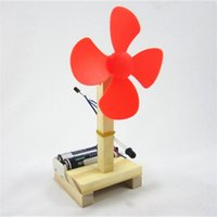 Wholesale toy fan lights - Light Control Electric Fan Summer Science Technology Small Production Infrared Invention DIY Teaching Material Child Toy 5 3zm V