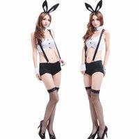 garota uniforme erótica venda por atacado-Sexy hot sensualidade Coelho Menina Cosplay Natal Ca Capri Fardas Temptation Tentação erótico para Ropa Sexy Para El Sexo S18101509