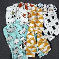 ingrosso animali ruote-11 bambini di disegno pp pantaloni moda bambino toddlers della ragazza del ragazzo animale raccoon panda tenda ruote figura geometrica pantaloni pantaloni leggings