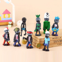 Wholesale plants vs zombies figures set for sale - 8pcs set Mini Plants vs Zombies figure Action Figures kids Toys Doll cartoon Micro Land model Figures gift Novelty Items FFA500