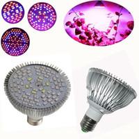 ingrosso l'illuminazione dell'acquario a pieno spettro ha portato-Full Spectrum Led Grow Light E27 30W 50W 80W Led Lampada in crescita per impianto di fiori Impianto idroponica Illuminazione a LED per acquari