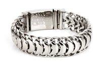 ingrosso uomini moda bande di mano-Charms moda uomo chiglia catena bracciali bangles acciaio inossidabile 316L titanio drago biker mano catena da polso gioielli braccialetto pulseras regalo