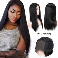 Wholesale Beauty On Line Peruvian Human Hair Wigs Pre Plucked Straight Lace Front Wigs Inch U Part Wig Lace Front Human Hair Wig