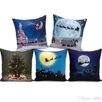 mejores fundas de almohada al por mayor-Productos para el hogar Más vendidos Funda de almohada Fundas de cojín Festival de Navidad Super suave felpa Muebles Regalo de almohadas portátil Lovely 5 5zf jj