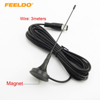 Wholesale tv antenna connectors - FEELDO Car Home Digital Aerial TV Antenna IEC Connector With Magnet Base #919