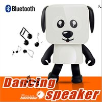 Wholesale Bluetooth Speakers For Kids - 2018 Mini Super Cut Smart Dancing Robot Dog Bluetooth speaker Multi portable Bluetooth Speakers New years Christmas Gift For Child Kids