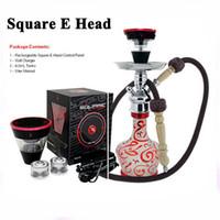 Wholesale vaporizer e hose for sale - Square e head Hookah e hose mini shisha Square Cartridge Refillable ehookah Disposable Hookah MAH Vaporizer E Cigarette