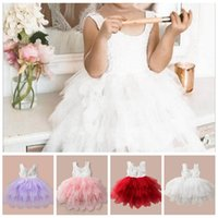 Wholesale sexy baby clothes resale online - Children s Dresses INS Girls Embroidery Flower Princess Dresses Sexy Lace Backless Party Dresses Kids Vest Dress Baby Clothing YL207