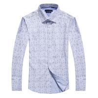 vestidos de primera calidad al por mayor-Top Sale Men camisa de turndown Collar Dress Moda Slim Fit de manga larga Premium Cotton Shirting Camiseta de hombre Brand