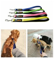 Wholesale training pads dogs - Pet New Large Dog Short Leash Guide Dog Seat Belt Padded Handle Nylon Training Leash Reflective Stripes DDA579