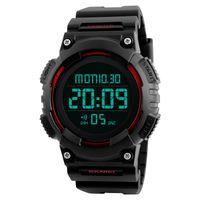 функциональный бренд оптовых-Outdoor multi-function dual display men's mountaineering electronic watch 2018 New Moment Sport Wrist Clock Top  A61