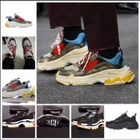 Wholesale vintage blue shoes - Newest - BL Triple S 17FW Sneakers for men women Running shoes Vintage Kanye West Old Grandpa Trainer Sneaker fashion shoe outdoor boots