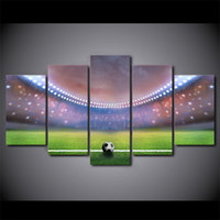 Wholesale abstract sports wall art painting - HD Printed 5 Piece Canvas Art Soccer Sports Large Canvas Wall Art Painting Wall Pictures for Living Room