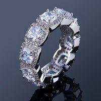 anéis indianos da faixa venda por atacado-Moda Hiphop Anéis De Diamante Para Os Homens Novo Estilo Cubic Zirconia Anel de Luxo Hip Hop Jóias Amante Presente de Alta Qualidade