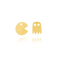 nickel free christmas jewelry großhandel-10 Paare / los Nickelfrei Pac-Man Ghost Ohrstecker Pacman Frauen Mädchen Geburtstag Weihnachten Geschenk Hiphop Schmuck