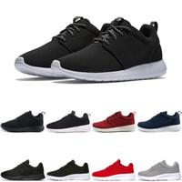 free run black red al por mayor-Nike Air Roshe run one Tanjun Nuevos zapatos corrientes del diseñador para los hombres mujeres negro rojo ligero transpirable Jogging London Olympic hombres Sports Sneakers Trainers envío gratis