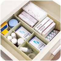 organisator für socken großhandel-Kunststoff Aufbewahrungsbox für Unterwäsche Socken Closet Organizer Schmuck Container Einreihig Weiß Hochwertige Aufbewahrungsbox
