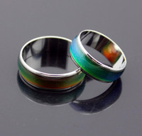 Wholesale Hot sell Unisex Mood Rings Amazing Magic Color Change Emotion Feeling Epack size stainless steel