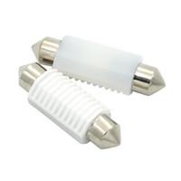 Wholesale map lamp car online - 4X mm C5W Ceramic LED Car Festoon Dome Interior Reading Light Map Lamp Bulb DC12V V Canbus Error Free