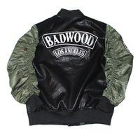 Wholesale Jacket Leather Man Pilot - Fashion Military Bomber PU Leather Motorcycle MA1 Men Jacket YEEZUS Coat Alpha Camo Pilot Jackets Hip Hop Pilote Veste Homme