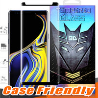 Wholesale note glass glue for sale – best Case Friendly Full Glue Small version Tempered Glass For Samsung Galaxy Note S10 S9 Plus S8 S7 Edge D Curve Clear Screen Protector