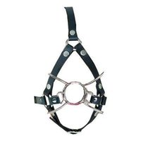 Wholesale bondage mouth ring gag for sale - Group buy PU leather Adjustable Belt O Ring Open Mouth Gag harness Spider Restraint T78