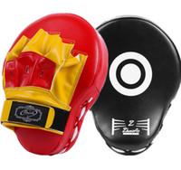 entraînement à engrenages achat en gros de-2018 équipement de protection noir et rouge de haute qualité Cibles arquées pour boxeurs, cibles d'entraînement, kickboxing, cibles pour les pieds, cibles murales courbes