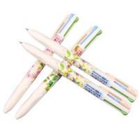 новинка цветочной ручки оптовых-Новая новинка 4 цвета Каваи цветок пластиковые шариковая ручка творческий шариковая ручка для офиса школьные принадлежности канцелярские подарок