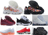 Wholesale shoes boys flag for sale - Group buy 2018 New arrival Tn Plus Running Shoes boys Men black white World Cup National Flag QS Ultra Outdoor Sport Training Tennis Shoe Sneaker