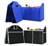 Wholesale Trunk Organiser - Storage Bags Foldable Car Organizer Boot Stuff Food Storage Bags Bag Case Box trunk organiser Automobile Stowing Tidying Interior Accessorie