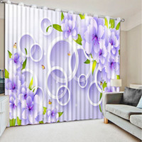 Wholesale Circle Punches - Customize Circle plants Window Curtain For Bedroom Living room Home Decor
