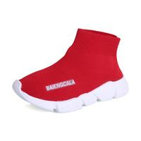 kinder schuhe socken großhandel-Kinderschuhe Laufschuhe für Babys Atmungsaktive Freizeitschuhe Kinder Jungen Mädchen Sportliche Socken Schuhe 2 Farben C5171