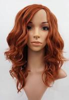 ingrosso parrucca ondulata ondulata-Parrucca da donna Light Auburn Ginger Mix Wavy Natural Look Top in pelle