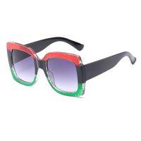 gafas de sol de diseño espejo italia al por mayor-Ojo de gato Gafas de sol Italia Diseñador de lujo Mujeres Espejo Gafas de sol Vintage 2018 Verde Rojo Gafas de sol Mujer Gafas Gafas