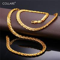 erkekler için altın yılan kolye toptan satış-Erkekler Için Collare Yılan Link Zinciri Altın / Siyah / Gül Altın / Gümüş Renk Afrika Zincir Kolye Toptan Erkekler Takı N215