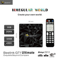 lecteur multimédia achat en gros de-Beelink GT1 Ultimate TV Box Android 7.1 Amlogic S912 Octa Core 5G WiFi Bluetooth 32G Lecteur multimédia 4K Set Top Box