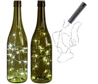 свадебное мини-вино оптовых-LED Винные Бутылочные Огни Винные Бутылки Для DIY Рождество Свадьба Теплый Белый Свет 1,5 м Мини Струнные Огни